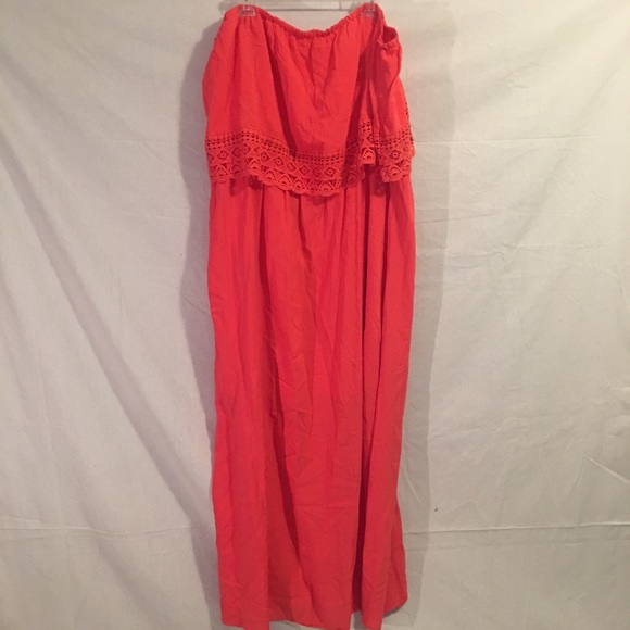 🎉 Plus Size Coral Maxi Dress (Nordstrom's) 3X 🎉 NWT